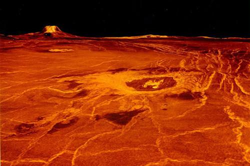 金星灼熱的表面