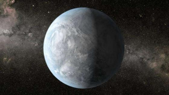 畫家筆下的刻卜勒62e系外行星