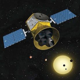 畫家筆下的凌日系外行星巡天衛星