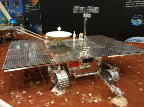 在珠海航展展出的火星車模型