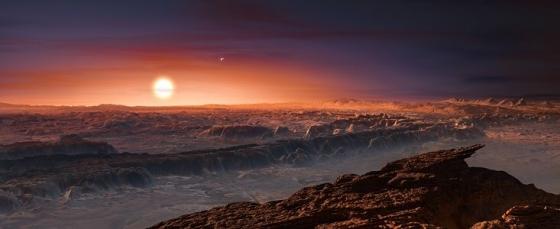 畫家筆下系行星上的地面景貌