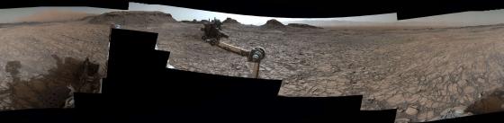 好奇號拍攝的火星表面貌似地球上的沙漠