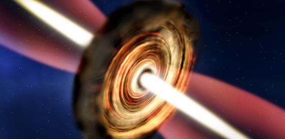 畫家構思超重新生恆星在旋轉的氣體塵埃盤中誕生