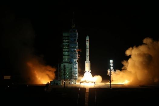 天宮二號太空實驗室發射情況