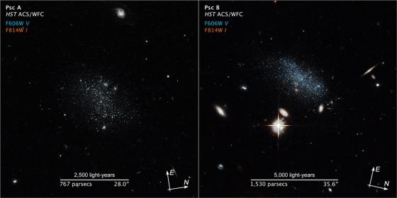 雙魚座A與B矮星系