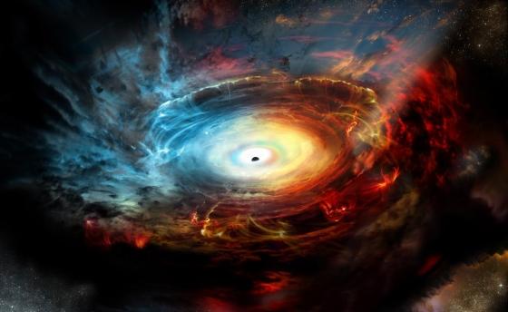 畫家構思藏在自己廢氣裡的黑洞