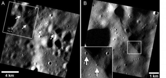 水星地殻收縮形成年輕的裂縫