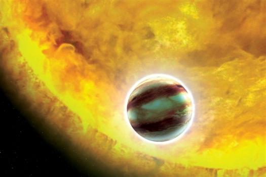 畫家筆下的熱木系外行星