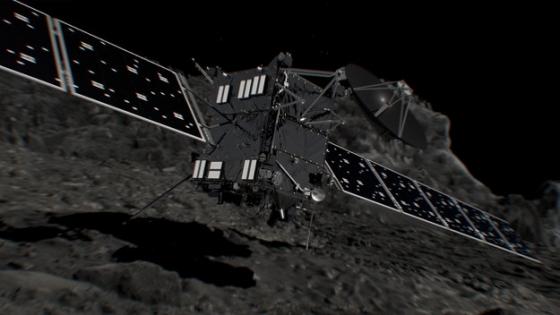 畫家構思羅塞塔號降落彗星的情況