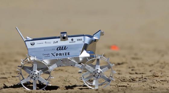 白兔號月球車在沙丘上測試