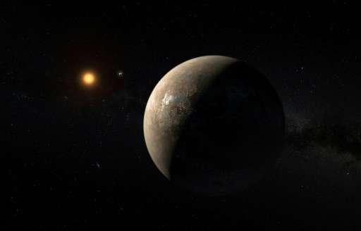 畫家筆下的南門二系C的外行星