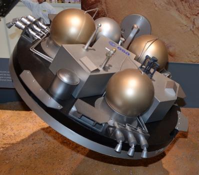 歐洲太空總署夏帕雷利登陸器展覧模型