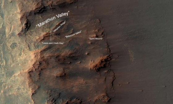 機遇號火星車行走的路線