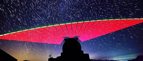 量子衛星與興隆站建立的連接路徑