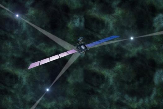 畫家筆下的脈衝星導航衛星