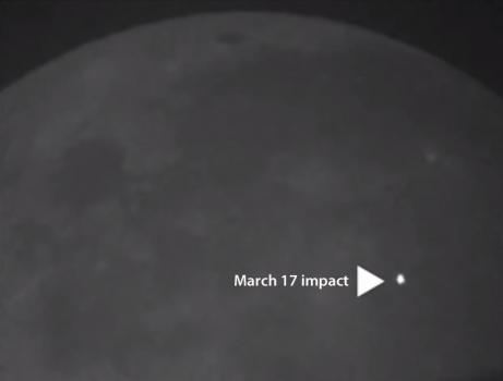 2013年3月17日LRO拍攝隕石撞擊月面照片