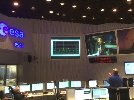 歐洲太空總署控制中心收到TGO進入火星軌道訊號