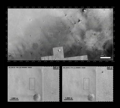 夏帕雷利登陸器撞擊火星表面過程照片