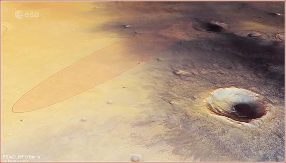 夏帕雷利登陸器原定降落火星表面的位置