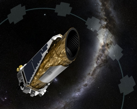 畫家筆下的刻卜勒太空望遠鏡