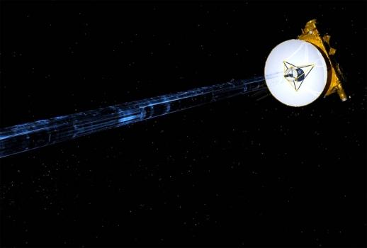 畫家筆下新視野號太空船傳送冥王星觀測數據