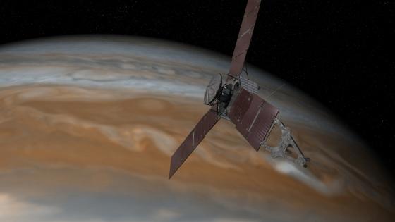 畫家筆下的朱諾號近距離探索木星