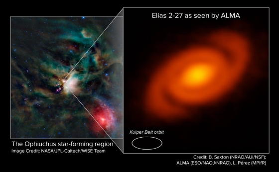新生恆星Elias 2-27周圍的原行星盤