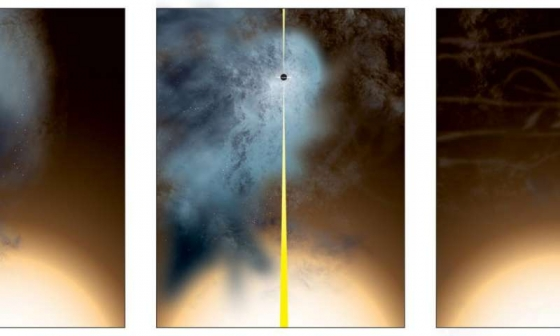 獨自生存的超大質量黑洞起源構思圖