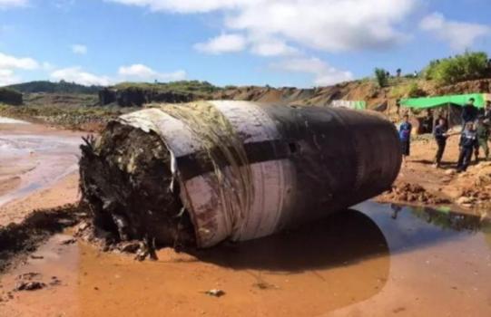 懷疑是中國火箭殘骸