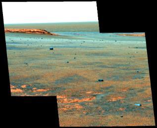 火星子午線高原的維多利亞隕石坑