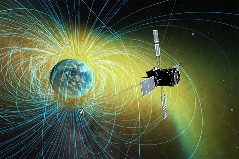 畫家筆下的地球空間探測衛星