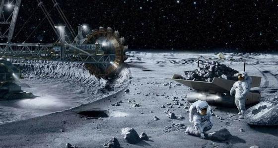 畫家筆下的商用太空採礦