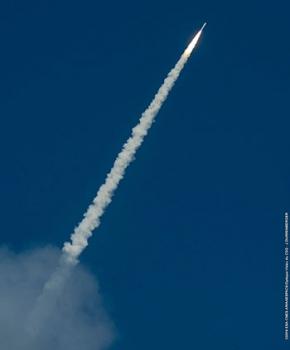 亞利安五號運載火箭升空情況