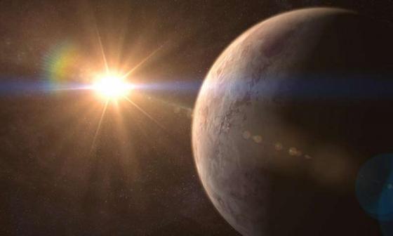 畫家筆下的 GJ 536 b系外行星