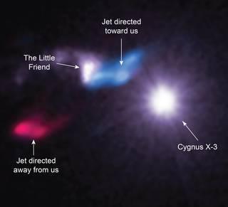 檢測到天鵝座X-3的暱稱為小朋友的包克雲球