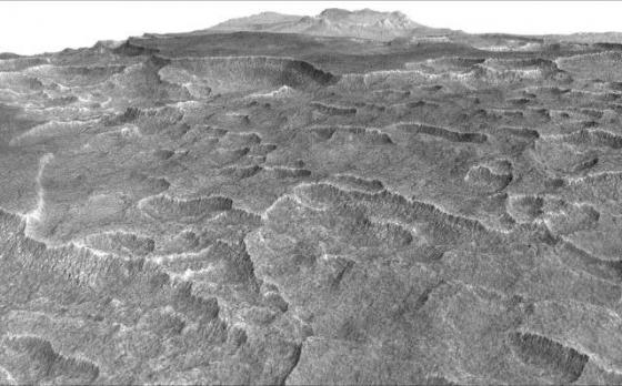 火星扇形凹陷紋理地區埋藏大量的冰
