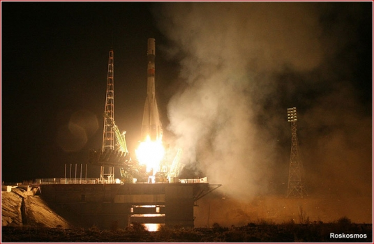 進步號貨運太空船由聯盟火箭發射升空情況