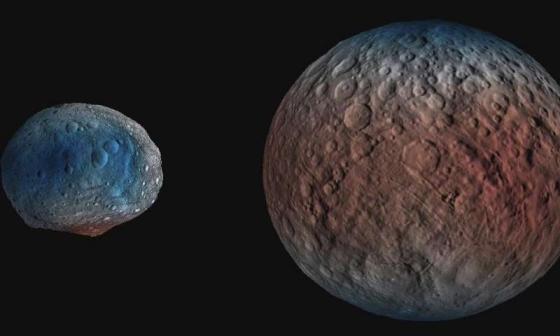 水冰存在榖神星兩極地區