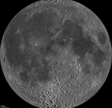 月球勘測軌道飛行器2009年6月拍攝的月球照片
