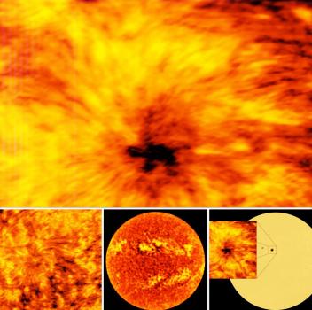 用射電望遠鏡拍攝的太陽影像