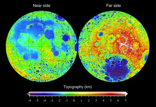 月球地形圖