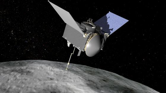 畫家筆下的小行星研究和採樣返回任務太空船
