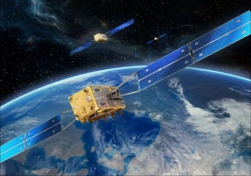 畫家筆下的伽利略導航衛星