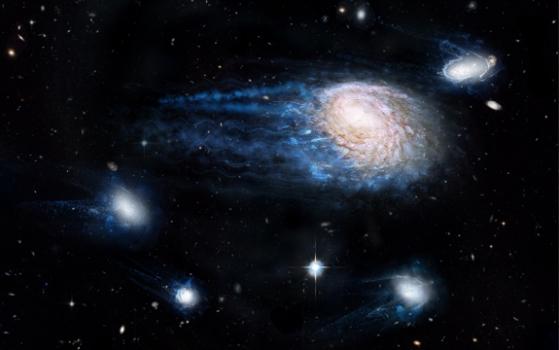 畫家筆下星系的氣體物質出現剝離現象