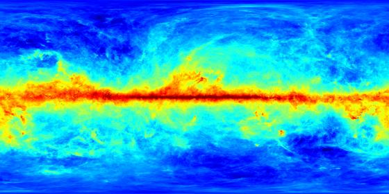 銀河系的塵埃的全天紅化數值圖(SFD消光圖)