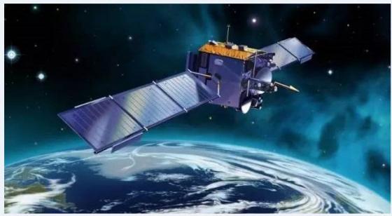 畫家筆下的珞珈一號衛星