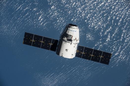 天龍號貨運太空船已經抵達太空站附近