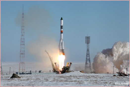 進步號貨運太空船發射升空情況