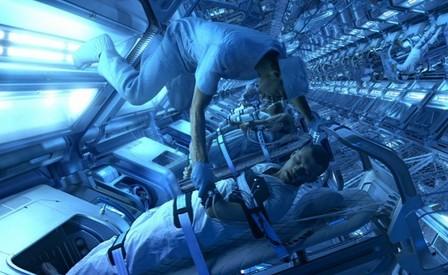 科幻電影中將太空人冷凍作長途太空飛行