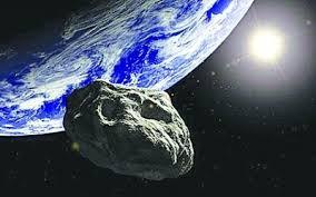畫家筆下小行星掠過地球情况